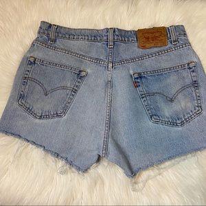 Vintage Levi's 505 high waisted distressed shorts